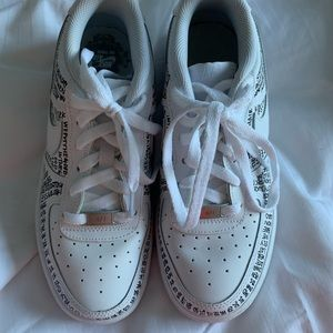 Custom Leah Kirsch lyrical AF1 Low White